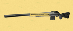 APS APM40A3 Air-cocking Sniper Rifle (Black) [APS-APM40A3B-BK]